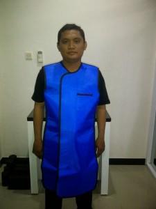 Jual Baju Apron X Ray Tanpa Lengan double 0,5mm (depan)