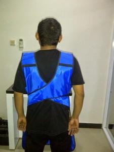 Jual Baju Apron X Ray Tanpa Lengan single 0,35 mm belakang