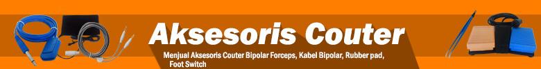 Distributor jual Aksesoris couter murah berupa Bipolar Forceps. Kabel Bipolar, Foot Switch, Rubber Pad dengan spesifikasi terlengkap