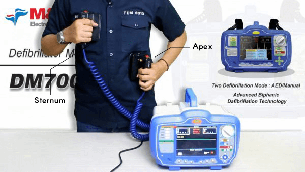 Defibrilator adalah alat medis yang akan memberikan sengatan listrik bertegangan tinggi untuk memulihkan dan menstabilkan ritme normal jantung.