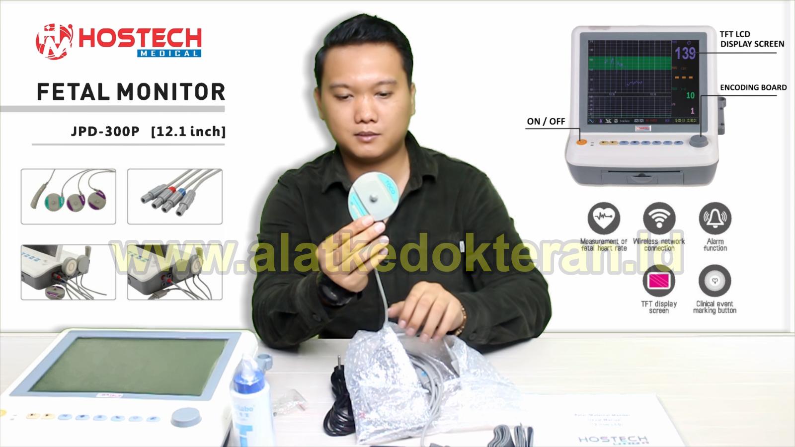 cara menggunakan fetal monitor jpd 300 hostech