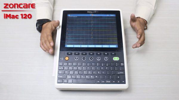 EKG ( Elektrokardiogram ) merupakan tes sederhana berguna untuk mengukur dan merekam aktivitas listrik jantung, dan mesin untuk mendeteksi impuls listrik disebut Elektrokardiograf. Elektrokardiograf dapat menerjemahkan impuls listrik menjadi tampilan grafik pada layar monitor.