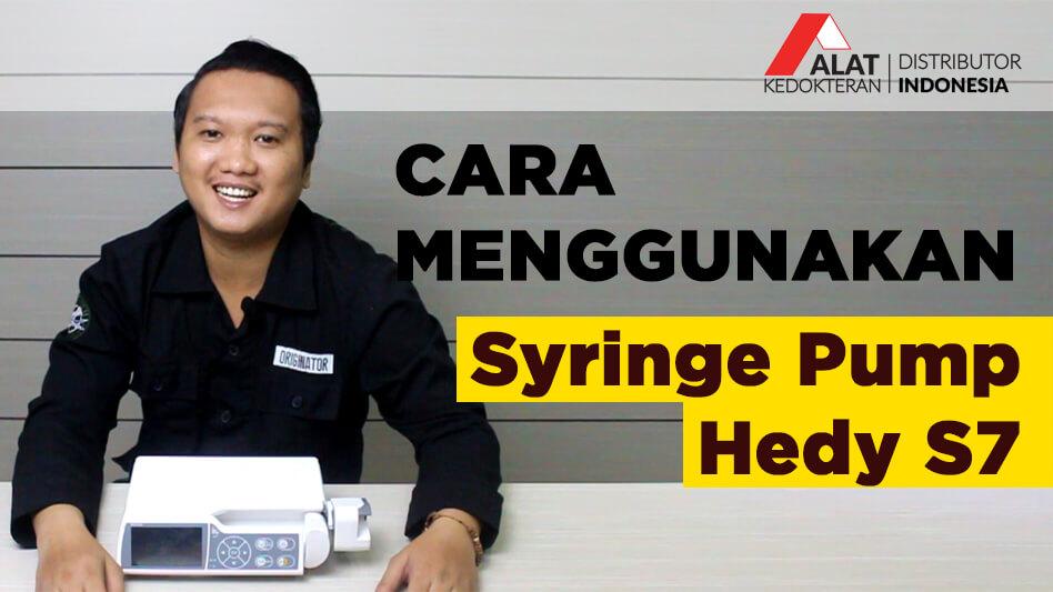Syringe Pump merupakan alat yang digunakan untuk memberikan cairan obat atau cairan makanan ke dalam tubuh pasien dalam jumlah tertentu dan dalam jangka waktu tertentu secara teratur.