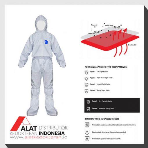 Jual Baju APD Alat pelindung Diri Disposable produksi lokal, dengan bahan spunbond non woven dan melewati proses steam dan uv. Beli produk ini seharga 360rb